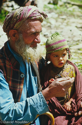 Kashmiri man and child