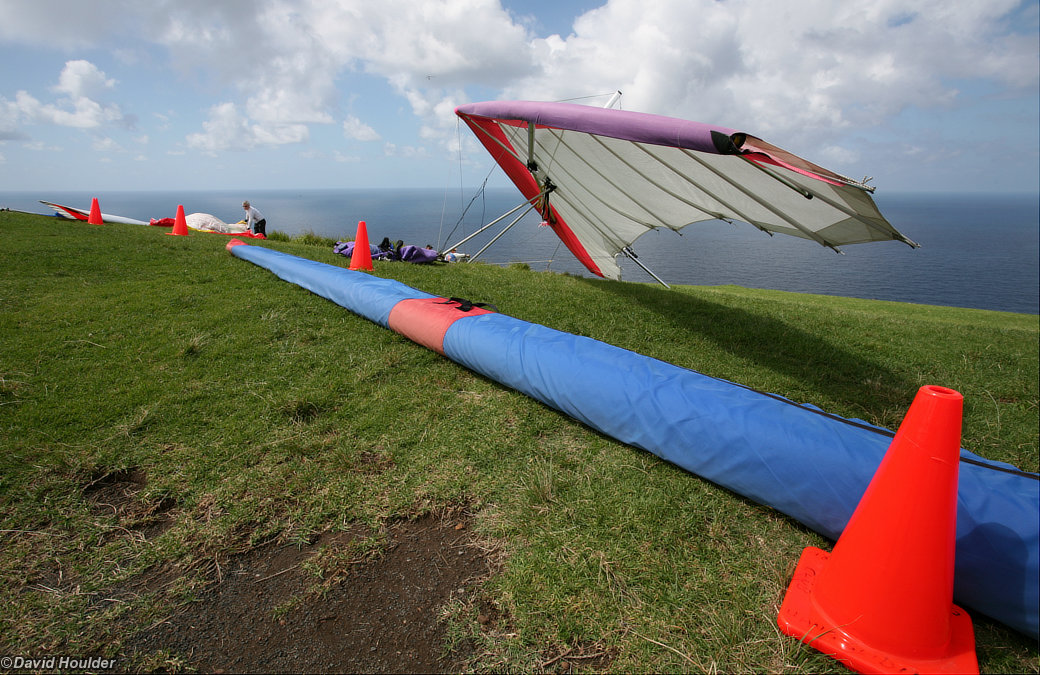 Parked hang glider