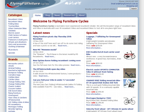 Flying Furniture Cycles
