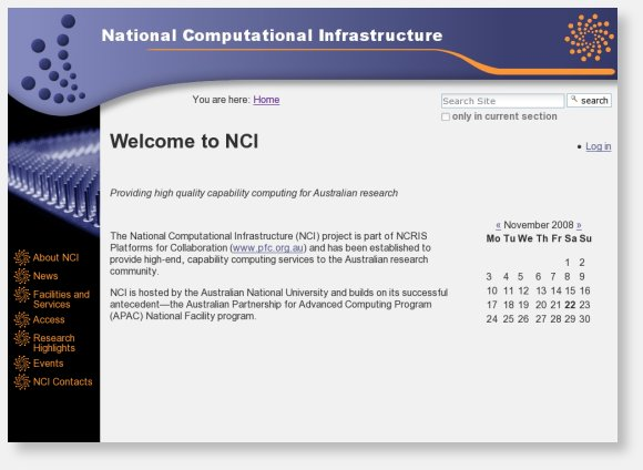 National Computational Infrastructure