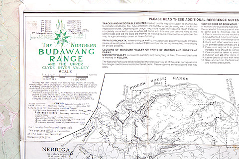 Budawangs sketch map
