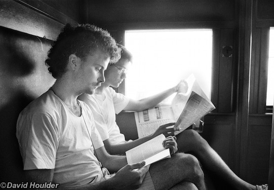 On the train to Chandigarh  India, 1987