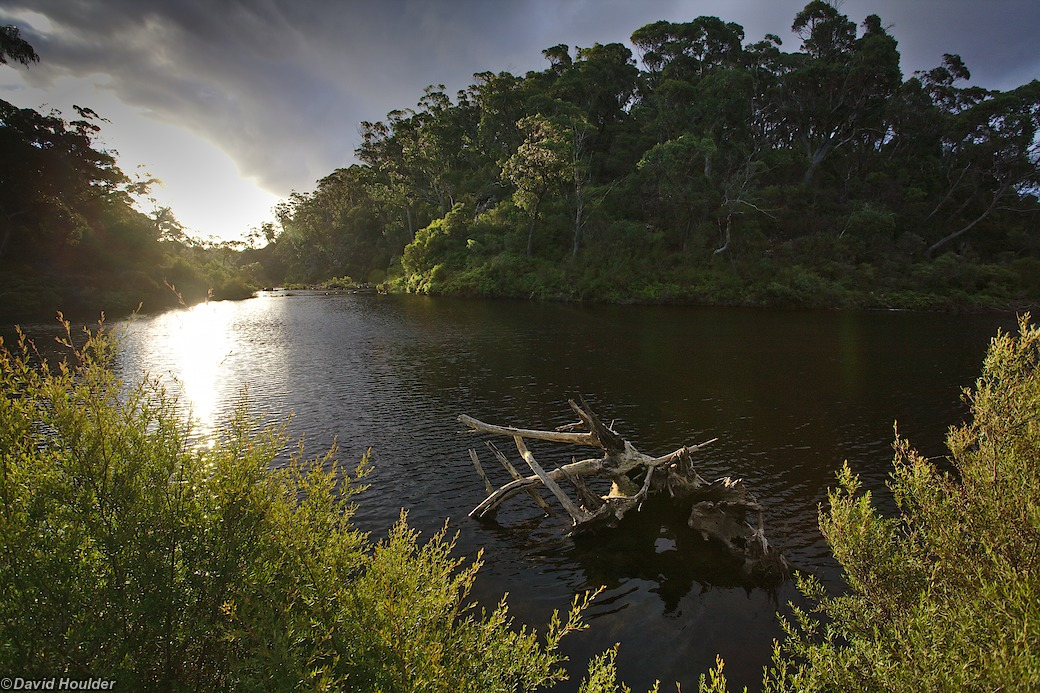 Sun setting on the Corang River